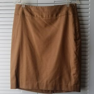 The Limited Camel Pencil Skirt